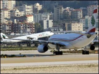 طائرة تابعة للطيران اللبناني