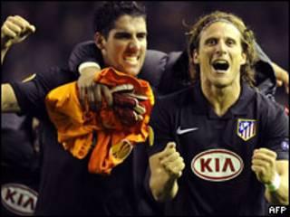 """Игроки """"Атлетико"""" радуются победе"""
