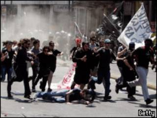 Biểu tình ở Hy Lạp trong ngày Thứ Bẩy