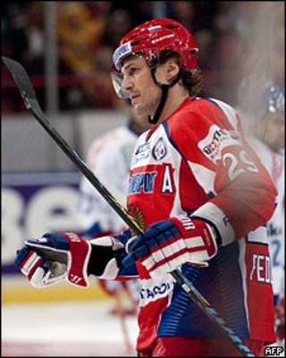 Нападающий российской сборной по хоккею Сергей Федоров