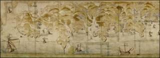 старая географическая карта