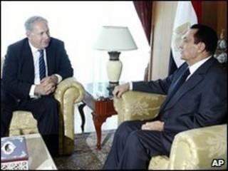 Rais Mubarak na Benjamin Netanyahu