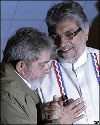 O presidente Lula e o presidente Lugo