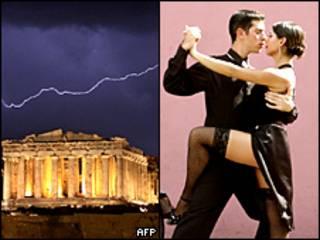 Partenon, pareja tango