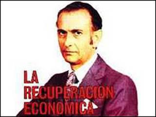 José Alfredo Martínez de Hoz, ministro de Economía durante el último gobierno militar argentino en una portada de la revista Mercado
