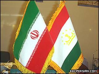 پرچم های ایران و تاجیکستان