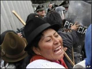 Protestas indígenas en Quito