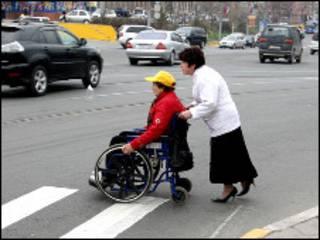 Инвалид во Владивостоке