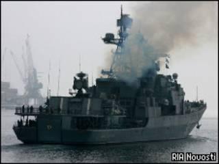 """Большой противолодочный корабль """"маршал Шапошников"""" (февраль 2010 года)"""