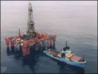 Plataforma petrolera en Malvinas