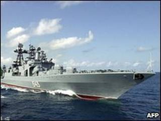Navio de guerra Marechal Shaposhnikov (arquivo)