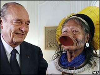 Chirac e Raoni