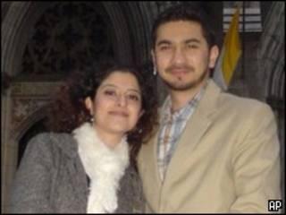 فیصل شهزاد و همسرش