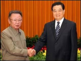 Ким Чен Ир и Ху Цзиньтао