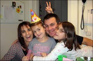 Christopher Panagopoulos y su familia