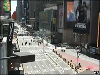 Times Square em 7 de maio