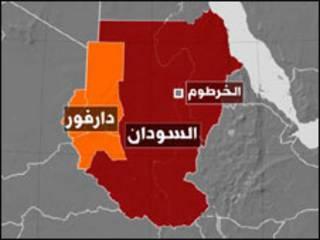 خريطة دارفور
