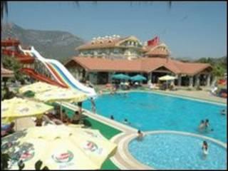 Hotel nudista en Turquía.