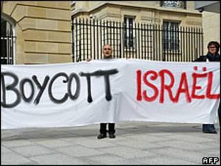 Manifestacion contra la entrada de Israel en la OCDE.