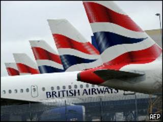 Aviones de British Airways.