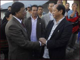 थुईंगालेंग मुईवा और नागालैंड के मुख्यमंत्री नेफ़िउ रियो