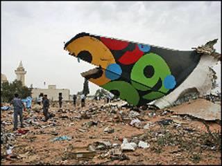 حطام طائرة الايرباص في ليبيا