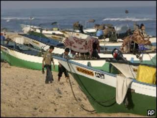 صيادون في غزة