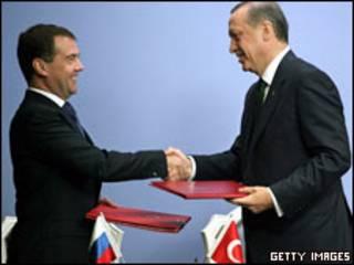 Рукопожатие Дмитрия Медведева и Реджепа Эрдогана, Анкара, 12 мая 2010 г.