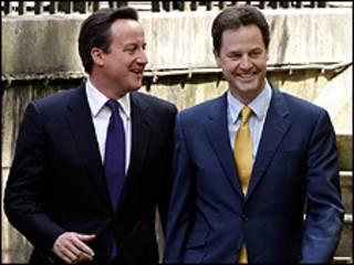 David Cameron da mataimakinsa Nick Clegg