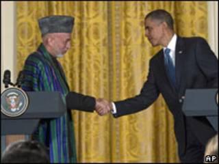 करज़ई और ओबामा