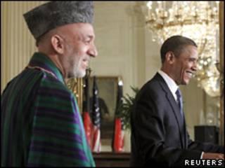 حامد کرزی و باراک اوباما