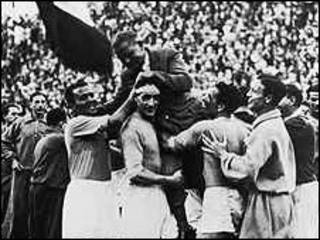 فرحة إيطالية بكأس العالم 1934