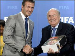 Beckham ya mikawa Blatter Bukatar Ingila