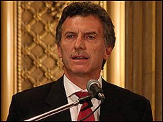 El jefe de gobierno de la ciudad de Buenos Aires, Mauricio Macri