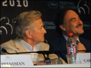 الیور استون و مایکل داگلاس- عکس از پرویز جاهد