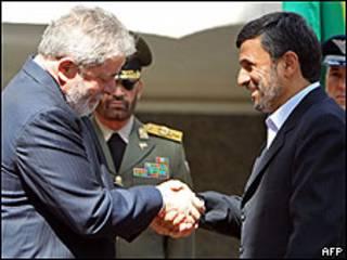 Lula y Ahmadinejad