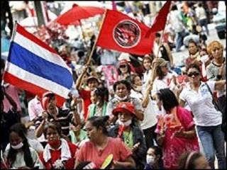 محتجون تايلانديون