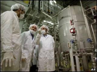 Instalações nucleares iranianas em  Isfahan (Foto de Arquivo)