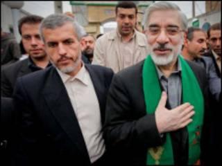 میرحسین موسوی و احمد یزدانفر - عکس از سایت کلمه
