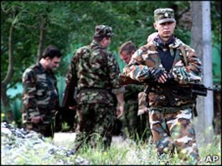 Сотрудники милиции в Чечне