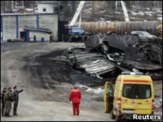 """На шахте """"Распадская"""" после взрыва"""