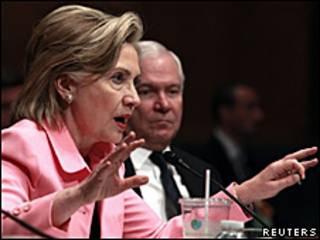 A secretária americana de Estado, Hillary Clinton