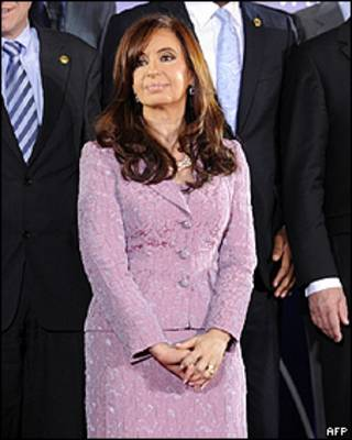 Cristina Kirchner em Madri