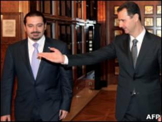الأسد والحريري في دمشق