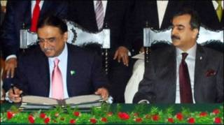 ज़रदारी और गिलानी
