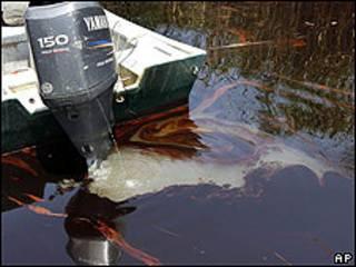 Mancha de petróleo en Luisiana