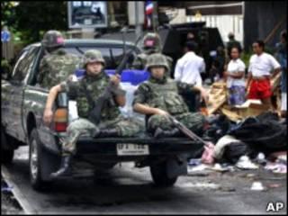 سربازان در بانکوک