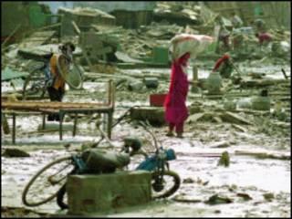 أعصار ليلى ضرب ساحل البنغال