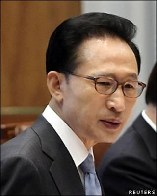 El presidente surcoreano, Lee Myung-bak