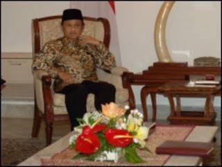 Mantan presiden Indonesia BJ Habibie